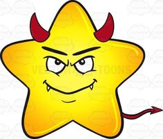 Gold Star Cartoon Smiling With Fangs, Horns And Tail Emoji #Beelzebub #big #bright #brightly #cartoon #cutestar #demon #devil #emoji #emoticon #fangs #fatstar #gloss #glossy #gold #golden #gradient #heavenlybody #horns #Lucifer #mischief-maker #monster #OldNick #PrinceofDarkness #puffed #puffy #Satan #shine #shining #shiningbrightly #shiny #smiley #smilies #star #starcartoon #stellar #theTempter #troublemaker #troublemaker #troubler #unpleasantperson #yellow #yellowgradient #vector #clipart…