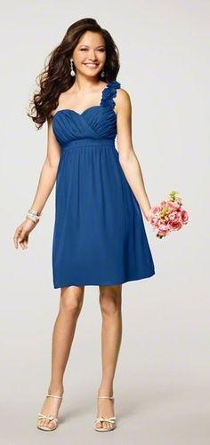 Blue Bridesmaid Dress for December!