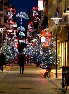 Christmas in Tripoli, Arcadia, Greece Greek Christmas, Christmas Lights, Merry Christmas, Christmas Ornaments, Greek Shopping, Arcadia Greece, Parks Furniture, Greek Culture, My Roots