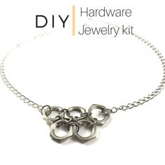 Create your own hardware jewelry- New kits now available at additionsstyle on Etsy