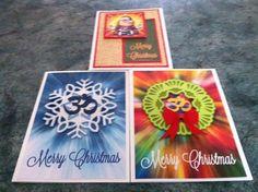 Yoga themed christmas cards