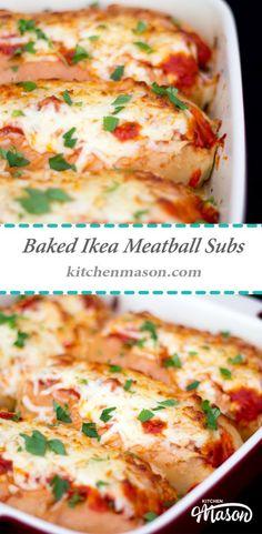 Oven Baked Ikea Meatball Subs
