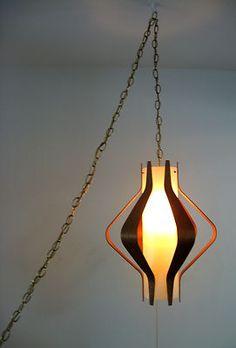 Vintage 1950's Danish Mid Century Modern Hanging Lamp Sconce Eames Scandinavian   eBay