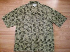 Mens M Vtg 90s COLUMBIA SPORTSWEAR Tropic Vacation Button Down Camp Shirt $11.83