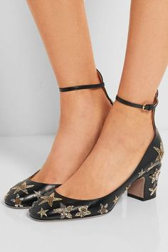 Heel measures approximately 60mm/ 2.5 inches Black leather Buckle-fastening ankle strap Come with dust bags Made in Italy