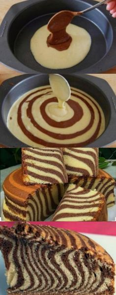 Receita Bolo de Zebra Delicioso Receita Bolo de Zebra DeliciosoYou can find Recette facile and more on our website. Torta Zebra, Zebra Cakes, Cake Recept, Cookie Recipes, Dessert Recipes, Scones Ingredients, Kolaci I Torte, Let Them Eat Cake, Sweet Recipes