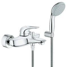 GROHE EUROSTYLE Смесител за вана с душова гарнитура 33592003