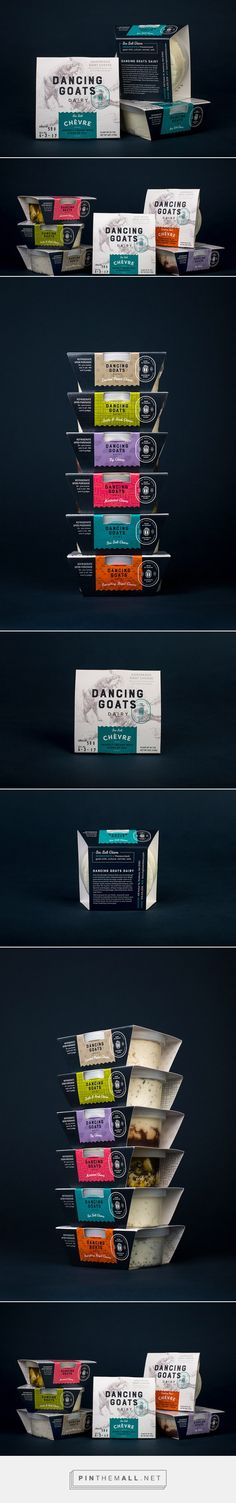 Dancing Goats Dairy by Kelsy Stromski. Source: Daily Package Design Inspiration. Pin curated by @SFields99 #SFields99 #packaging #design #inspiration #ideas #product #creative #branding #dairy #cheese #label