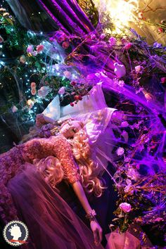 The Look: Elie Saab Sleeping Beauty at Harrods for Christmas 2012.