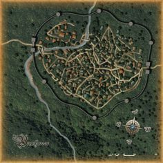 map fantasy rpg generator maps roleplaying town sci fi rhykker fiction layout dark 2600 concept realms forgotten mirabar pen paper