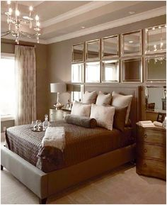 7 Ideas Of How To Use Mirrored Headboards In Bedroom Wall Decor