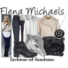 Elena Michaels by fofandoms on Polyvore featuring Karen Millen, Paige Denim, Breckelle's, Rules by Mary, Ugo Cacciatori, Effy Jewelry and Vince Camuto
