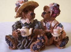 Boyds Bears Emma And Bailey...Afternoon Tea Retired #2277