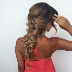 Beautiful braided hairstyle! And ombre coloring