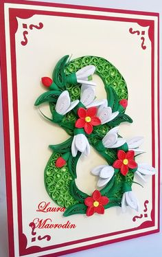 WP_20150218_10_14_04_Pro Quilling Craft, Quilling Flowers, Paper Quilling, Christmas Art, Christmas Ornaments, 8 Martie, Diy And Crafts, Paper Crafts, Laser Cut Wood