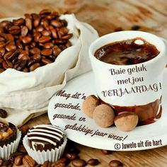 Coffee Is Life, Coffee Love, Chocolates, Good Morning Coffee, Stuffed Mushrooms, Birthdays, Vegetables, Food, House