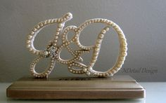 Wedding Cake Topper & Display  Monogrammed Pearl by NDetailDesign, $140.99