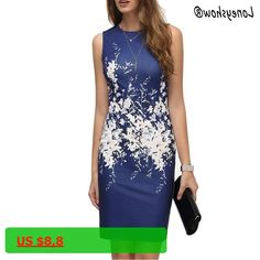 Loneyshow 2017 New Summer Women Bodycon Office Dresses Vintage Ladies Floral Print Sleeveless O Neck Elegant Women Dresses