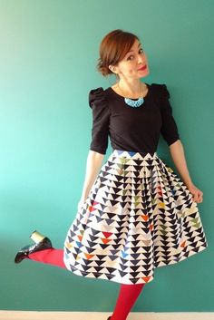 love the whole look, but especially the skirt!