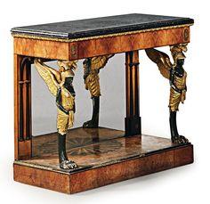 Rare pair of early Biedermeier console tables € 67,400