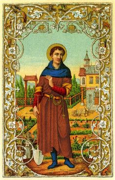 St. Fiacre is the patron saint of herb and vegetable gardens, men who like to garden.  I ask his intercession each time I go into the yard to work!