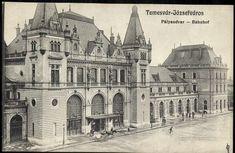 Temesvár-Józsefváros; Pályaudvar | Képcsarnok | Hungaricana Bucharest Romania, Notre Dame, Taj Mahal, Journal, Painting, Travel, Viajes, Painting Art, Paintings