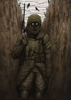 Trench Soldier by Ariel Perez on ArtStation.