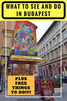 Visiting Budapest? Here are the top Budapest places to visit and some cool things to do whilst you are there including visiting the ruin bars, going caving, seeing Budapest's street art. Read here for all the things to do to help plan your Budapest trip (including some free things!) | Things to do in Budpaest | Cool things to do in Budapest | Places to visit in Budapest | What to see in Budapest | What to do in Budapest | Free things to do in Budapest | #budapest #hungary