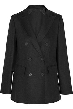 Dark-gray stretch wool and cashmere-blend Button fastenings through double-breasted front 90% wool, 8% cashmere, 2% elastane; lining: 95% acetate, 5% elastane Dry clean Made in Italy