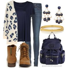 """Casual School Outfit"" by alyssanicolesmith on Polyvore"