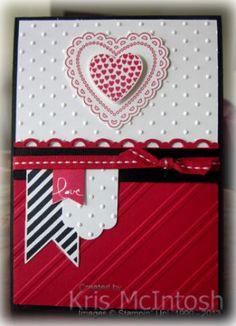 Kris McIntosh: Hearts A Flutter - Banner Blast - Scallop Trim Border Punch - Banner Punch - Perfect Polka Dots EF - Stylish Stripes EF