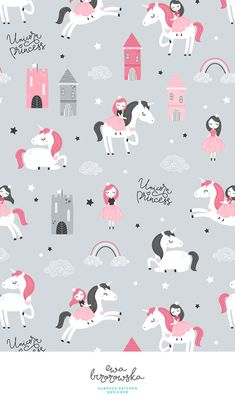 69 Ideas wall paper phone pattern design for 2019 Cartoon Wallpaper, Unicorn Wallpaper Cute, Kids Wallpaper, Wallpaper Iphone Cute, Pattern Wallpaper, Cute Wallpapers, Wallpaper Backgrounds, Unicorns Wallpaper, Baby Girl Wallpaper