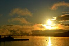 Sunrise on Kawagama Lake.