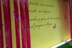a poem on the wall