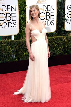Rosamund Pike | All The Looks On The 2015 Golden Globes Red Carpet