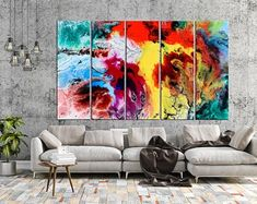 Large Canvas Prints Modern Wall Art for Home & by WALLARTSDECOR Unique Wall Art, Modern Wall Art, Large Wall Art, Blue Abstract, Abstract Canvas, Canvas Wall Decor, Wall Art Decor, Large Canvas Prints, Marble Art