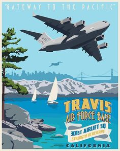 Checkout this stunning Travis AFB C-17 Globemaster III - Squadron Poster designed by Nick Anderson.