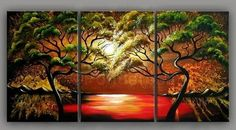 Woods are lovely dark and deep - Direct Art Australia,  Price: $389.00,  Shipping: Free Shipping,  Size of Parts: 35cm x 80cm x 3 panels,  Total Size (W x H): 105cm x 80cm,  Delivery: 21 - 28 Days,  Framing: Framed (Gallery Wrap & Ready to Hang!),  Handpainted: 100% Hand Painted on Canvas,  Guarantee: 30 Day Money Back Guarantee,  http://www.directartaustralia.com.au/