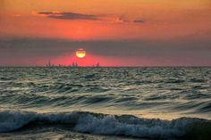 Chicago Skyline from a Beach in Indiana