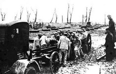 Forced labor at the construction of a Krupp's factory in Auchwitz.