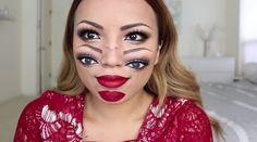 trippy double vision makeup