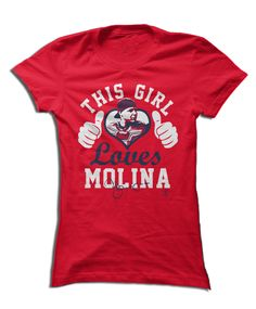 Yadier Molina Official Apparel - this licensed gear is the perfect clothing for fans. Makes a fun gift!