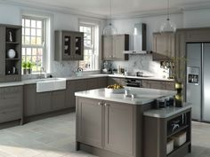 grey and white kitchen - Google Search