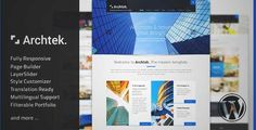Download and review of Archtek - Responsive Modern WordPress Theme, one of the best Themeforest Corporative themes