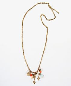 this vintage inspired beauty was handmade in India and is perfect for any outfit! #necklace #charm #handmade