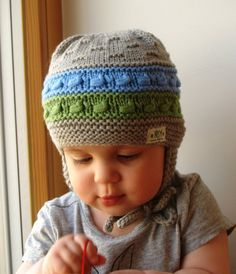 Gorras tejidas a mano. Sombrero de orejeras calientes para niños de bebé y  del niño 8363d108b66