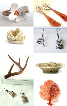 Here is a treasury made by AnnyMay!  *******  Voici une vitrine offerte par AnnyMay!  http://www.etsy.com/treasury/NjM1MjM3MnwyNzIxMDQyMDY1/a-strand-of-coral