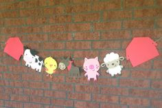 Large farm animal banner western country farm by pinktreepapers, $25.00