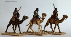 SA13 Mounted Beja on camels with spears and sword