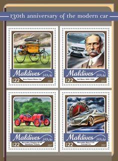 anniversary of the modern car (Benz Patent Motor Car; Mercedes Concept, Mercedes Benz, Carl Benz, Maldives, Motor Car, Concept Cars, Vivid Colors, Flag, Anniversary